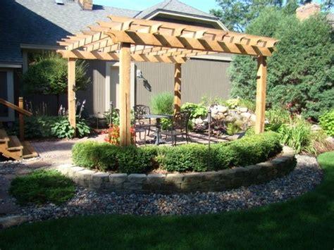 landscaping and texture around pergola backyard pinterest