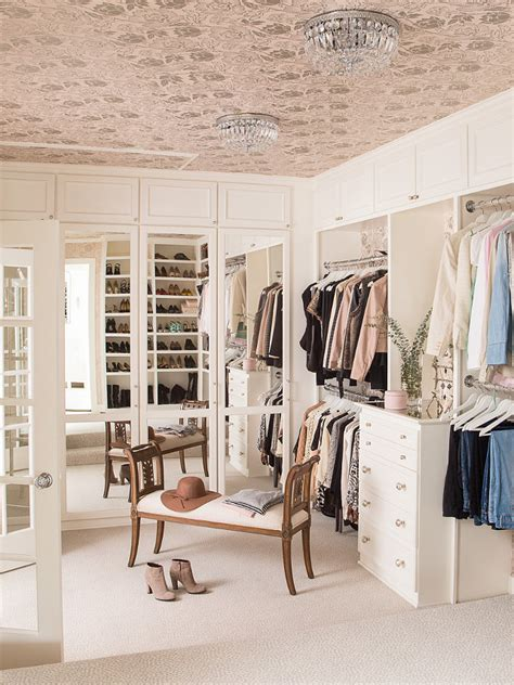 closet mirrored wallpaper dressing room dream family home with neutral interiors home bunch interior