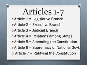 Article I Section 9 Of The Us Constitution by Federalism Articles 1 7 Presidential Powers Ppt
