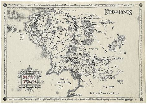 Midgard And Middle Earth middle earth map the lord of the rings poster emp