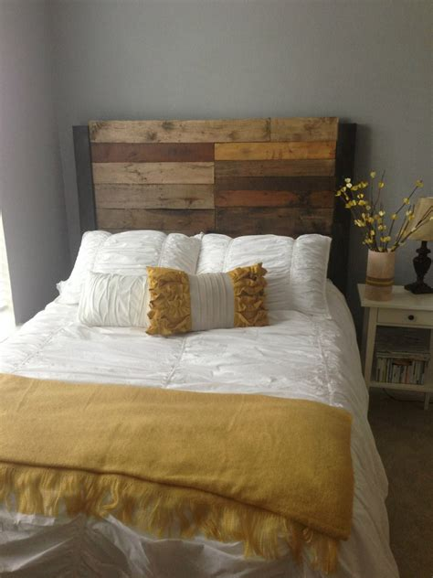 queen full size reclaimed wood headboard