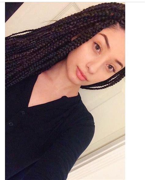 medium length poetic justice box braids white girl with box braids black medium box braids