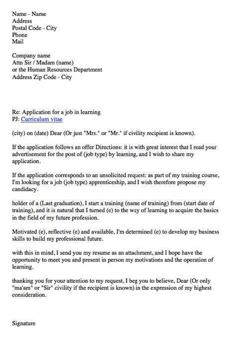 apprenticeship contract cover letter http