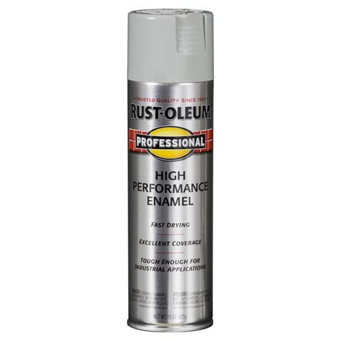 shop rust oleum professional light machine gray enamel spray paint actual net contents 15 oz