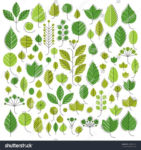 Handdrawn Illustration Simple Tree Leaves Isolated Stock Vector 478803118 Shutterstock Tree Collection Of Design Elements Stock Vector Illustration Of Icon Botany 32428346
