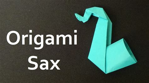 how to make a paper saxophone 28 images easy origami