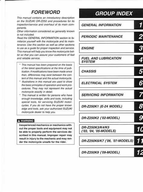 service manual how to download repair manuals 2009 nissan gt r regenerative braking nissan 2001 2009 suzuki drz250 service manual download manuals tec
