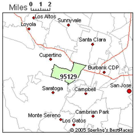 san jose ca map by zip code california zip code map