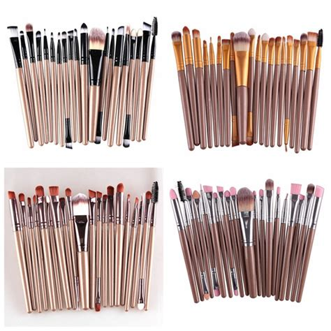 20pcs Set Makeup Brushes Cosmetic 1 20pcs professional makeup brush cosmetic synthetic hair brushes kit set alex nld