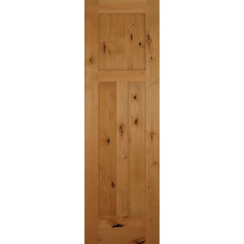 24 X 80 Interior Door 24 In X 80 In 3 Panel Craftsman Solid Knotty Alder Single Prehung Interior Door Hdka3p20r