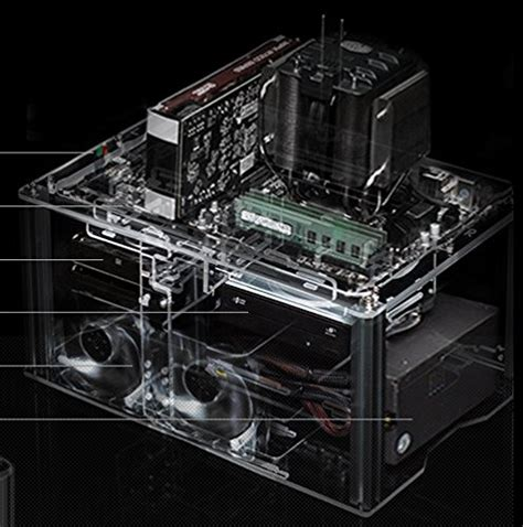 motherboard test bench myopenpc bench spring transparent clear acrylic test bench