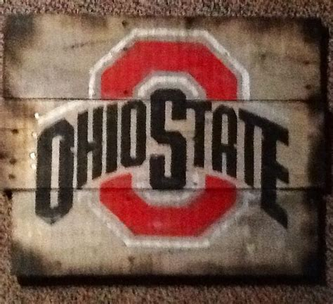 ohio woodworking ohio state wood pallet sign home ideas