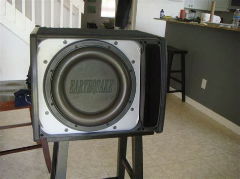speaker box capacitor complete 12 quot subwoofer system with sub enclosure and capacitor ls1tech