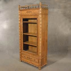 Bookcase With Display Cabinet Antique Large Pine Display Cabinet Bookcase