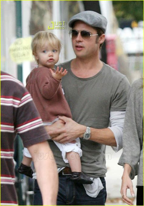 Brad Pitt And Shiloh The Most Beautiful Picture by Sized Photo Of Shiloh Visiting Burn After Reading 05