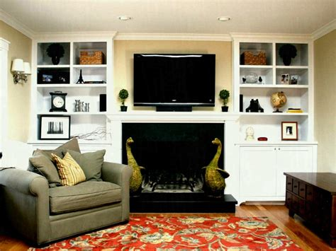 built in wall shelves with tv built ins beside fireplace ideas in cabinets awesome