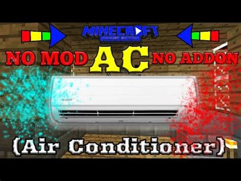 cara buat mod game java cara buat ac air conditioner di mcpe no mod tutorial