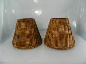 Rattan Chandelier Shades Vintage Wicker L Shades Wicker 1 Pair By