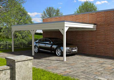 steda carport carport aus holz leimholz flachdach carport wahlweise