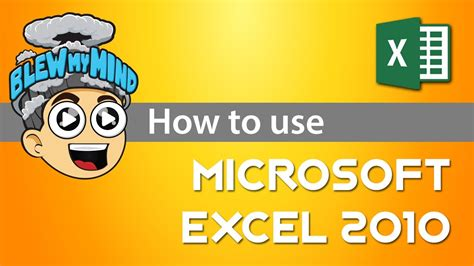 tutorial how to use excel 2010 how to use microsoft excel 2010 tutorial youtube