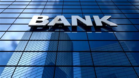 bank building clouds time lapse stock footage video