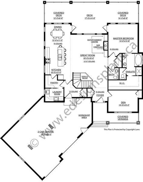 bungalow floor plans with walkout basement ranch house plans with walkout basements excellent house