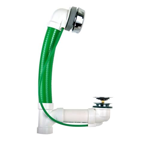 flexible bathtub watco innovator cableflex 938 34 in flexible pvc bath waste in chrome plated 938 ca