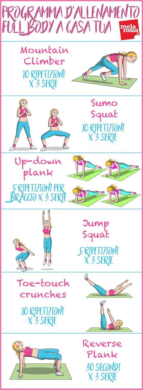 scheda esercizi casa programma d allenamento a casa tua melarossa