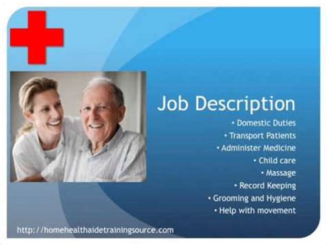 home health aide description and salary