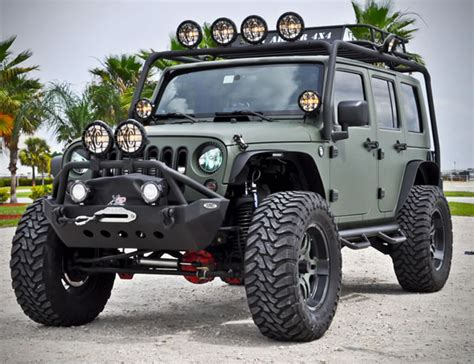 Wrangler Jeep Accessories Green Jeep Wrangler By Cec Wheels Hiconsumption