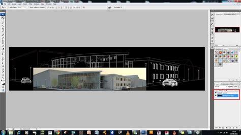 tutorial header website header image creation tutorial revit and photoshop