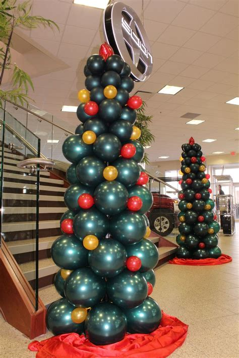 christmas tree made out of balloons event decorations