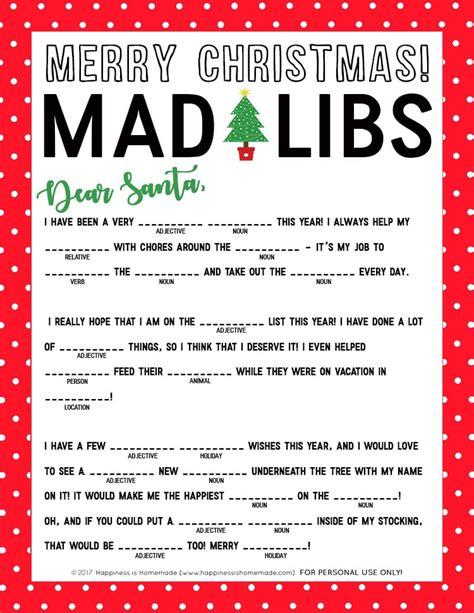 Printable Madlibs