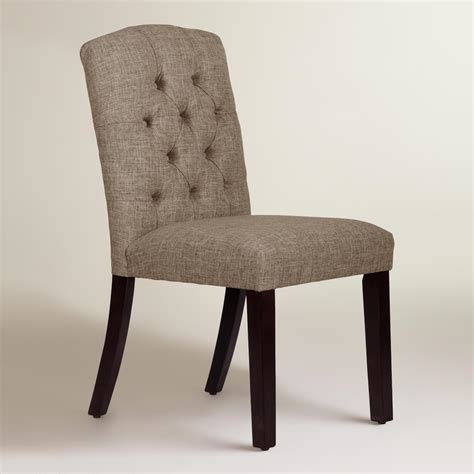 linen blend tufted zoey dining chair world market