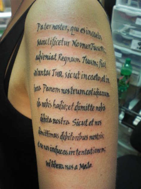 lords prayer tattoo prayer in