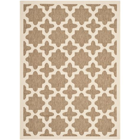 safavieh courtyard indoor outdoor rug safavieh courtyard brown bone indoor outdoor area rug