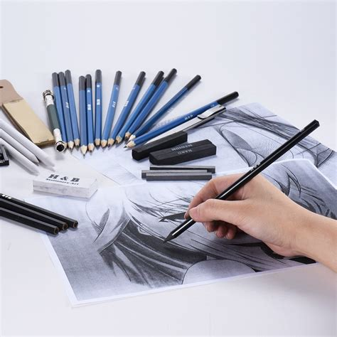 B Drawing Pencil by 32pcs Set Professional Drawing Sketch Pencil Kit Including