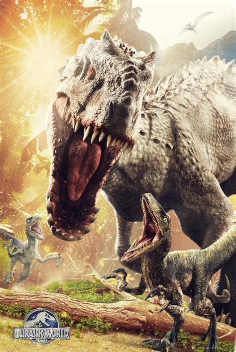jurassic world t rex and indominus rex posters movieweb