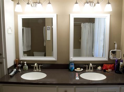 interior framed bathroom vanity mirrors corner sinks for