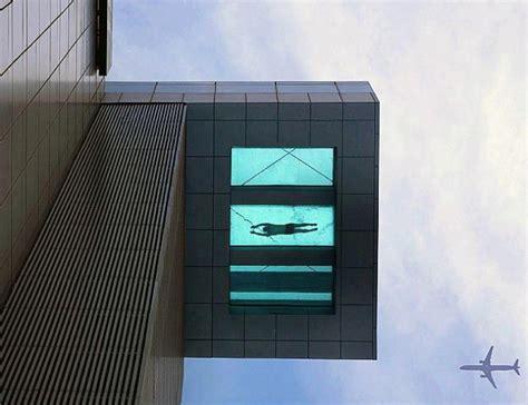 glass bottom pool a 24th story glass bottom swimming pool