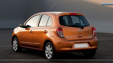 nissan orange orange nissan micra tekna 2011 back pose wallpaper