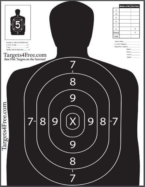 printable bad guy targets b27 target printable for free by targets4free bad guy