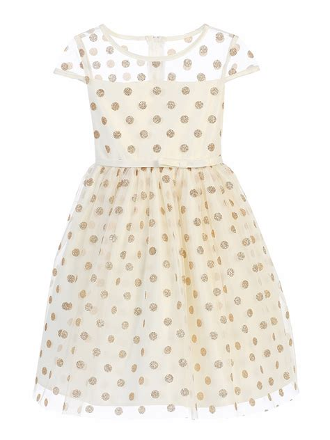Polkadot Mesh Dress Et Cetera ivory glitter polka dot mesh dress