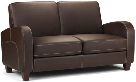 2 Seater Faux Leather Sofa Buy Julian Bowen Vivo Brown Faux Leather 2 Seater Sofa Cfs Uk