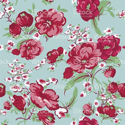 seamless pattern flower vintage floral background seamless pattern stock vector