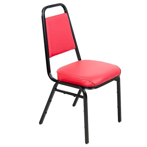 lancaster table seating red stackable chair   padded seat