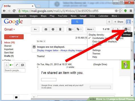 themes for gmail page how to change a gmail theme 5 steps with pictures wikihow