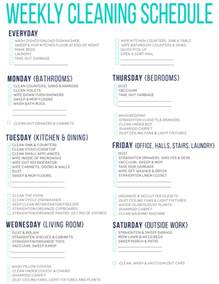 7 of the best free printable cleaning schedules
