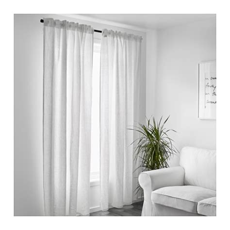Ikea White Curtains Aina Curtains 1 Pair White 145x300 Cm Ikea