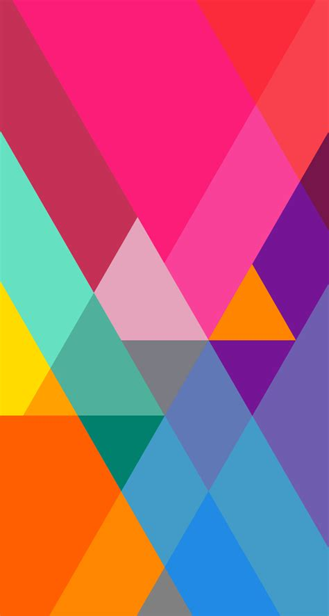 colorful triangle pattern wallpaper download the new ios 7 wallpapers now